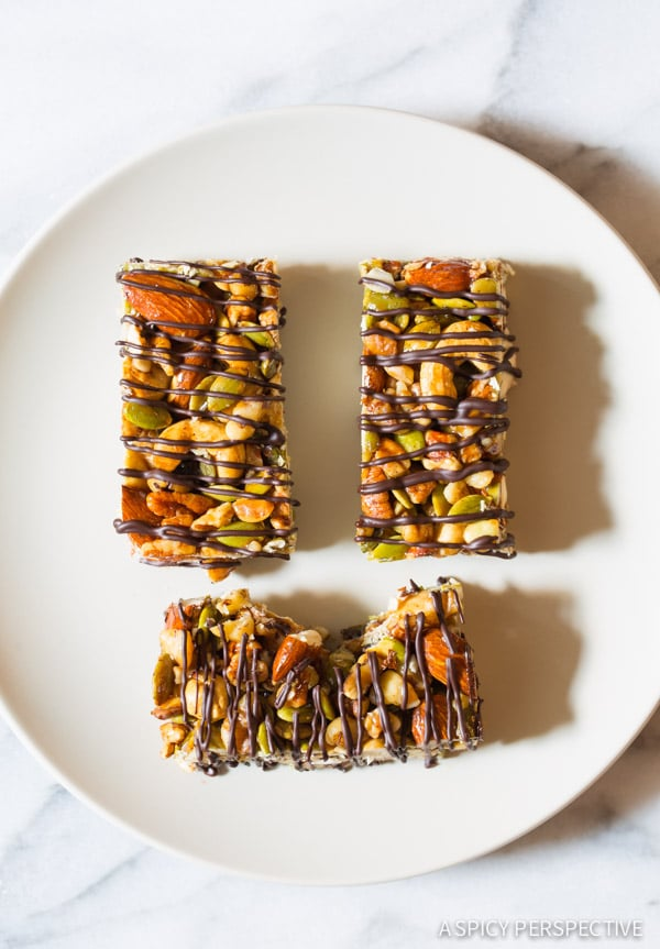 Paleo Bars with Nuts and Chocolate