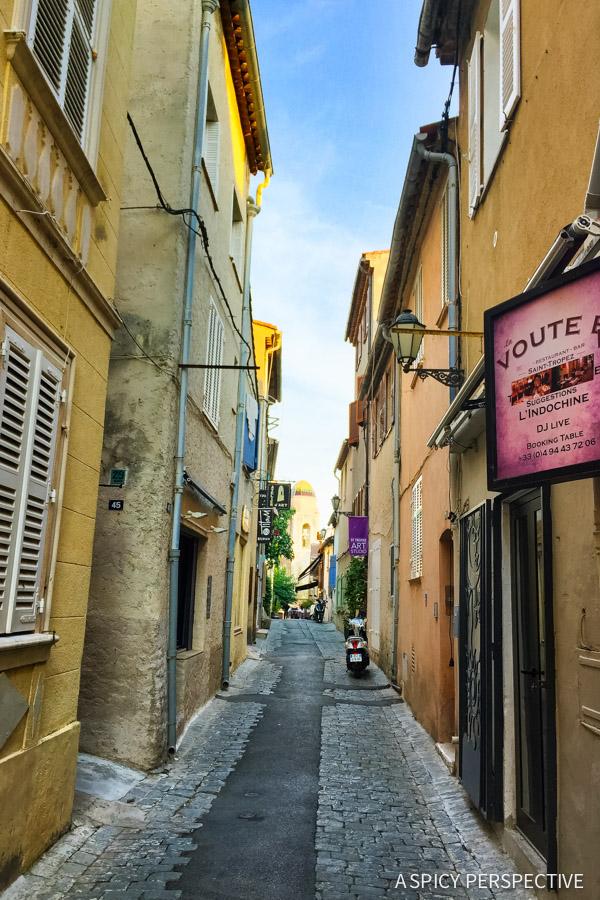 Lovely Saint Tropez, France on ASpicyPerspective.com #travel #france