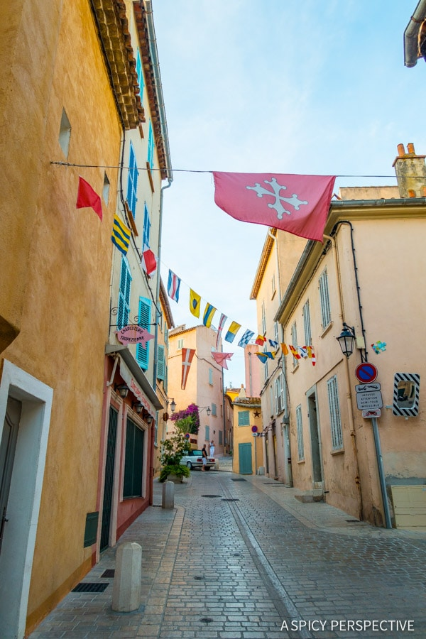 Walking in Saint Tropez, France on ASpicyPerspective.com #travel #france