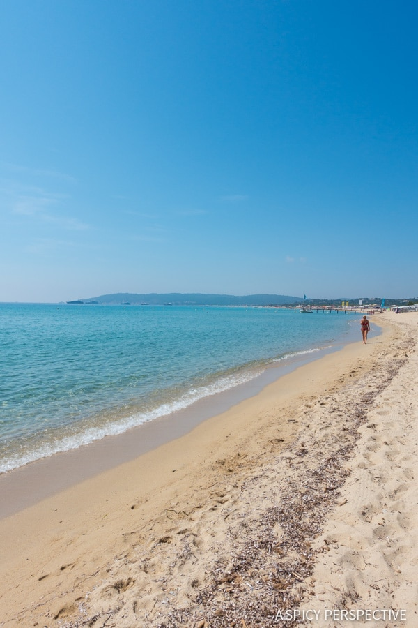 Beaches of Saint Tropez, France on ASpicyPerspective.com #travel #france