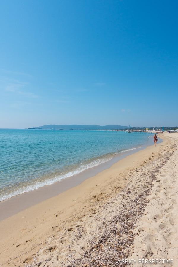Beaches of Saint Tropez, France on ASpicyPerspective.com #travel #france