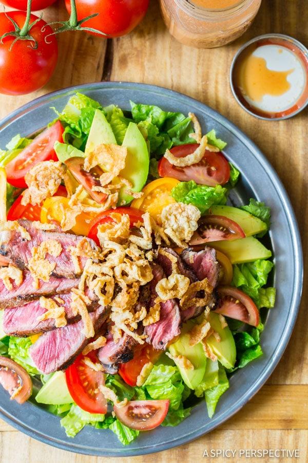 ... mary tomato salad steak salad with tomato vinaigrette recipe dishmaps