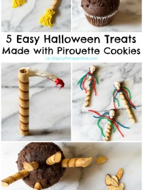 Super Fun!! 5 Easy Halloween Treats Made with Pirouette Cookies on ASpicyPerspective.com