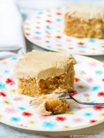 Apple Cake with Salted Caramel Frosting on ASpicyPerspective.com