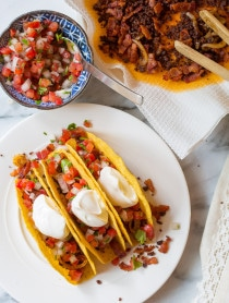 Zesty Bacon Ranch Jalisco Tacos Recipe on ASpicyPerspective.com