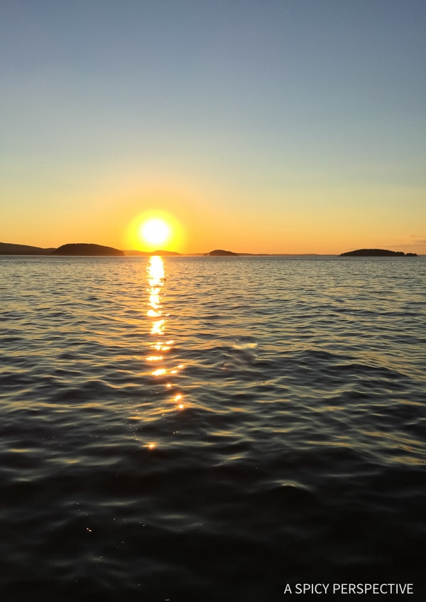 Sunset in Acadia National Park Maine - on ASpicyPerspective.com #travel