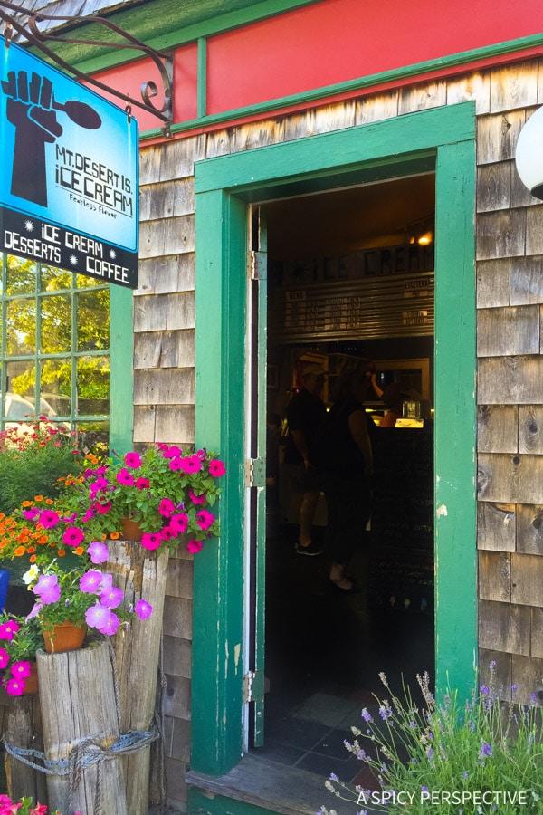 Best Ice Cream in Bar Harbor, Maine on ASpicyPerspective.com #travel