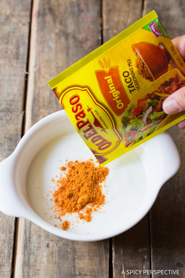 Old El Paso Taco Seasoning #ASpicyPerspective #BuffaloChicken #PoblanoPeppers #StuffedPeppers #ChickenStuffedPeppers #BuffaloChickenStuffedPeppers #Dinner #MexicanFood