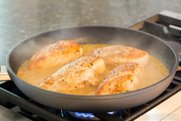 Easy Garlic Lime Skillet Chicken on ASpicyPerspective.com
