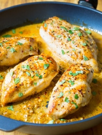 Zesty Garlic Lime Skillet Chicken on ASpicyPerspective.com