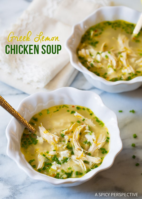 Greek Lemon Chicken Soup Recipe Video A Spicy Perspective