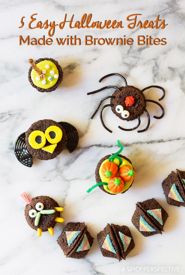 5 wickedly easy halloween treats made with brownie bites on aspicyperspectivecom fun for
