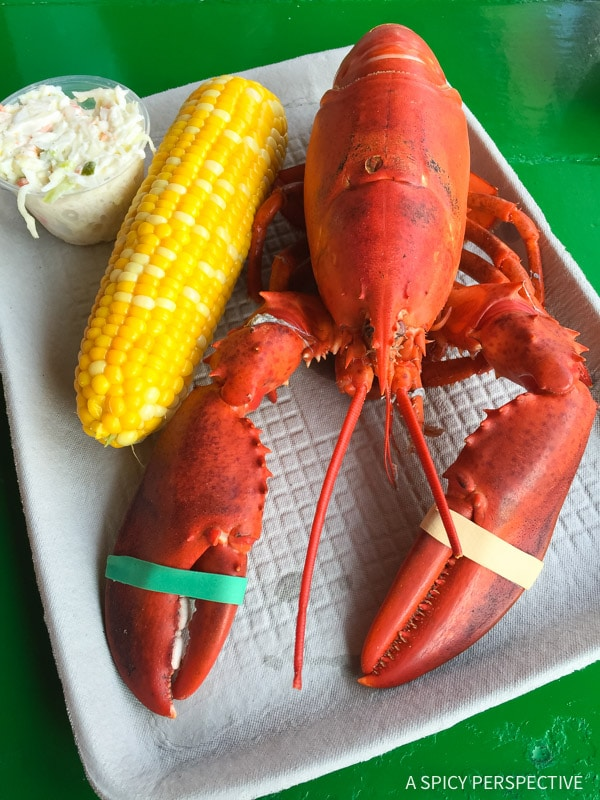 Eat at Chauncey Creek Lobster Pier in Kittery, Maine on ASpicyPerspective.com #travel