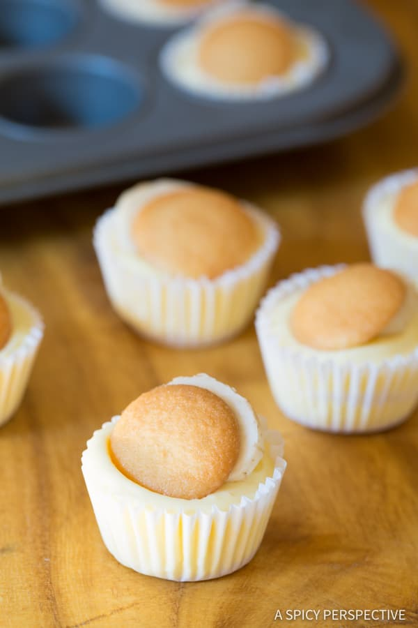 Mini Banana Cream Pie Recipe (Banana Pudding Tarts) on ASpicyPerspective.com