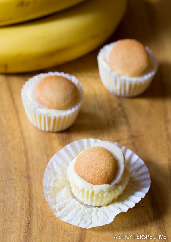 Mini banana cream pie recipe a spicy perspective 6 ingredient mini banana cream pie recipe banana pudding tarts on aspicyperspective forumfinder Image collections