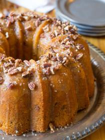 Nutty Cardamom Bundt Cake with Bourbon Glaze on ASpicyPerspective.com