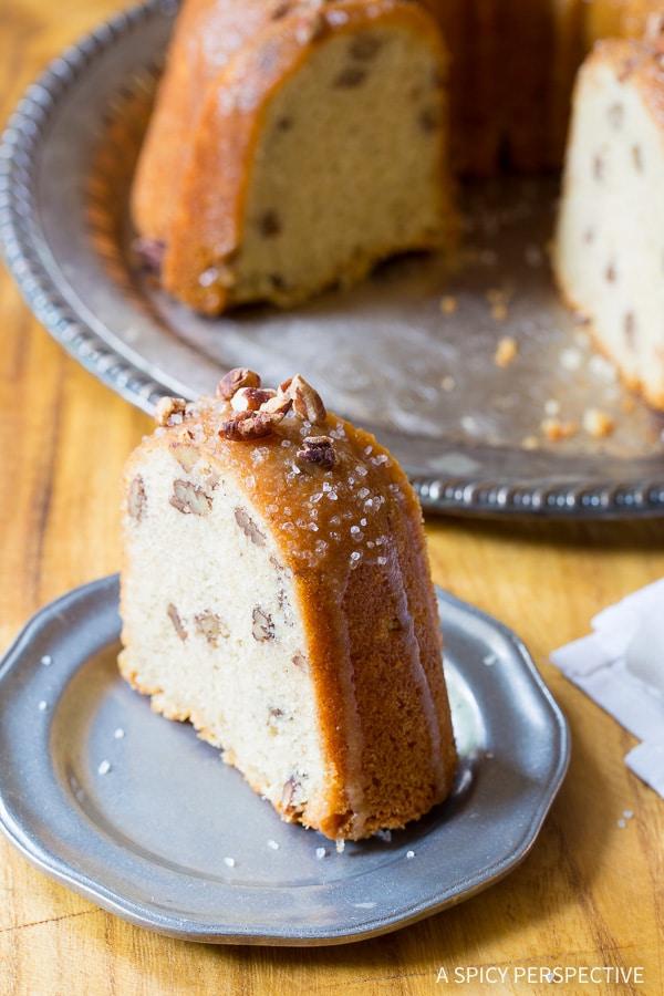 So Divine - Nutty Cardamom Bundt Cake with Bourbon Glaze on ASpicyPerspective.com