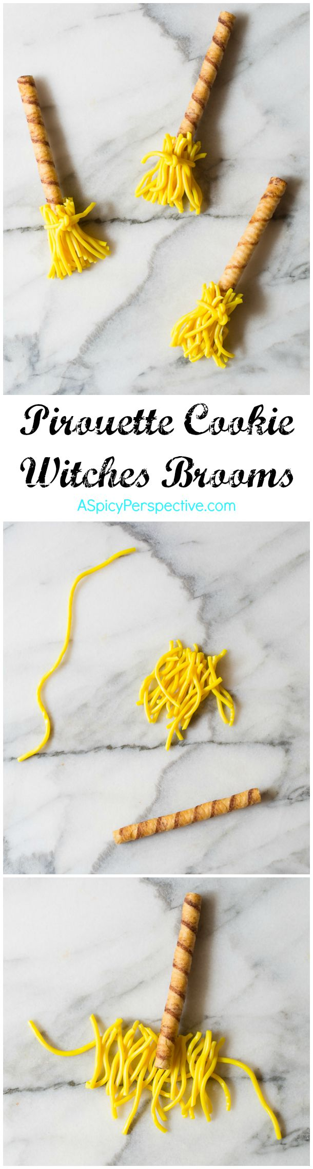 Learn How to Make Witches Broomsticks - 5 Easy Halloween Treats Made with Pirouette Cookies!