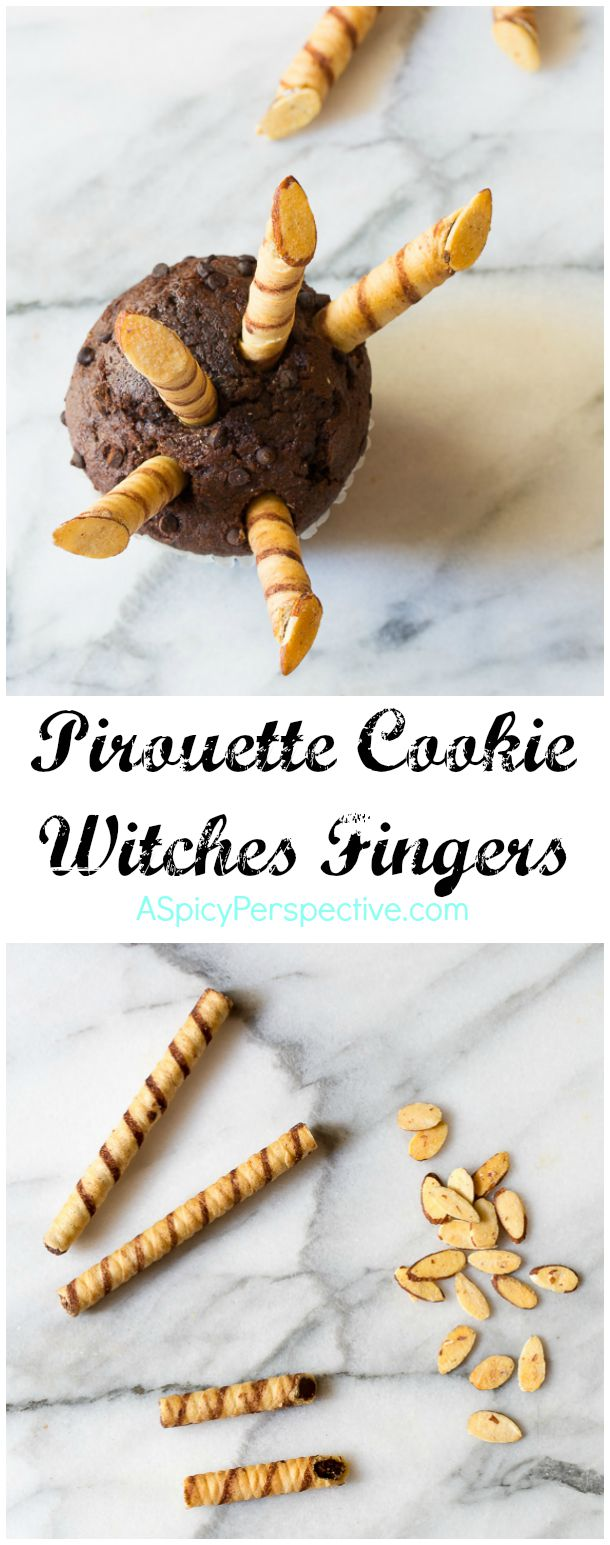 Learn How to Make Witches Fingers - 5 Easy Halloween Treats Made with Pirouette Cookies!