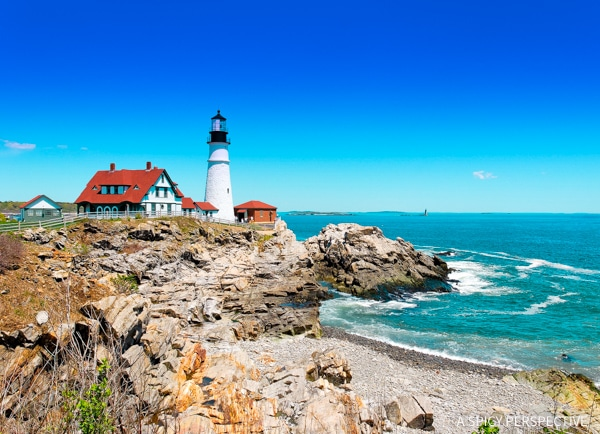 Portland Head Light in Portland, Maine Coast Crawl on ASpicyPerspective.com #travel