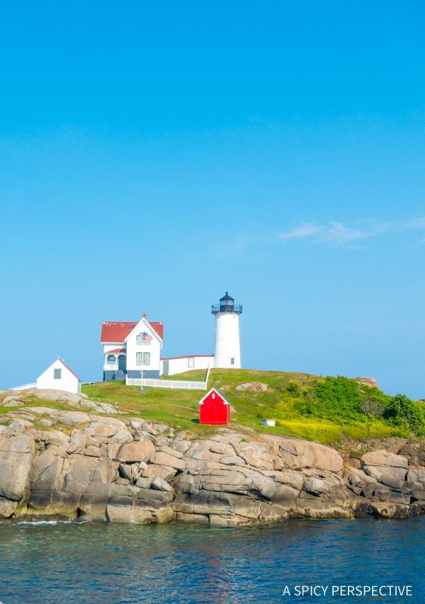 Nubble Lighthouse, Kittery, Maine (York) on ASpicyPerspective.com #travel