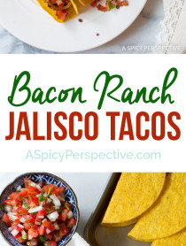 Easy to Make Bacon Ranch Jalisco Tacos Recipe on ASpicyPerspective.com