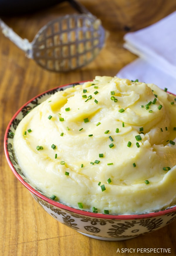 How To: Best Mashed Potatoes Recipe on ASpicyPerspective.com
