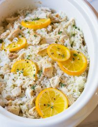 Bistro Slow Cooker Chicken and Rice on ASpicyPerspective.com