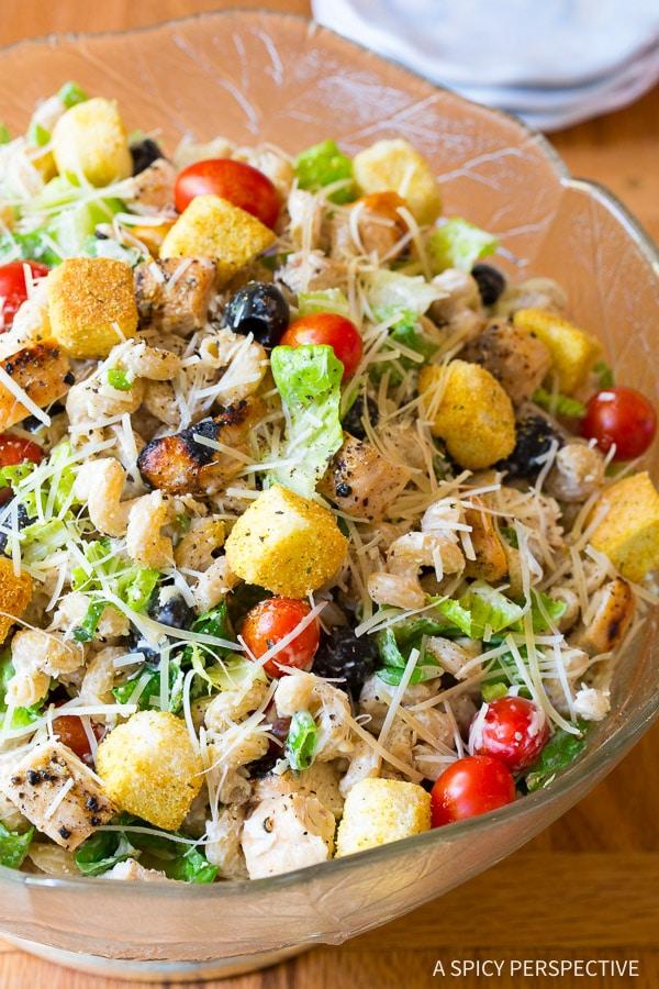 Chicken Caesar Pasta Salad A Spicy Perspective