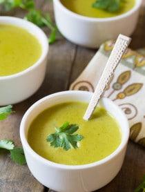 Creamy Poblano Pepper Soup Recipe on ASpicyPerspective.com