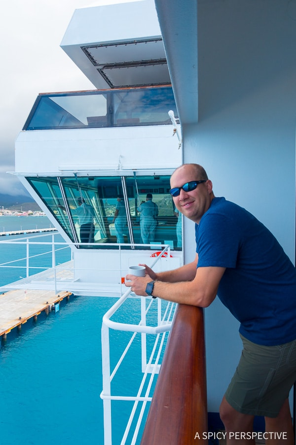 Cruising for Foodies - Carnival Sunshine Balcony
