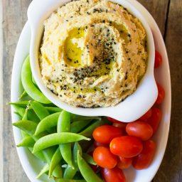 Rich and Creamy Miso Hummus Recipe on ASpicyPerspective.com