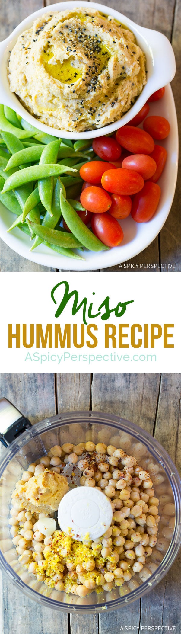 I love this Rich and Creamy Miso Hummus Recipe on ASpicyPerspective.com