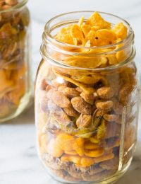 Perfect 5-Ingredient Party Mix Recipe on ASpicyPerspective.com