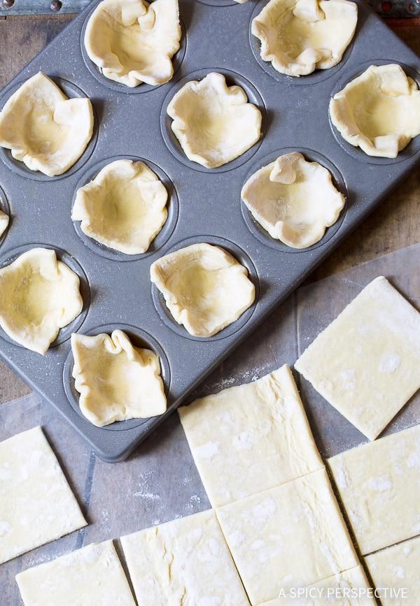 Making Mini Pumpkin Pies on ASpicyPerspective.com!