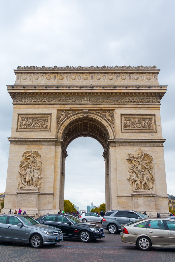 Arc de Triomphe - Things to Do in Paris - Planning Tips for 1 Day in Paris Up to 7 Days in Paris on ASpicyPerspective.com #travel