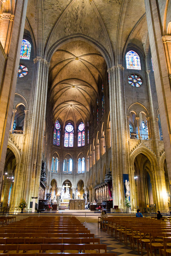 Inside Notre Dame - Things to Do in Paris - Planning Tips for 1 Day in Paris Up to 7 Days in Paris on ASpicyPerspective.com #travel
