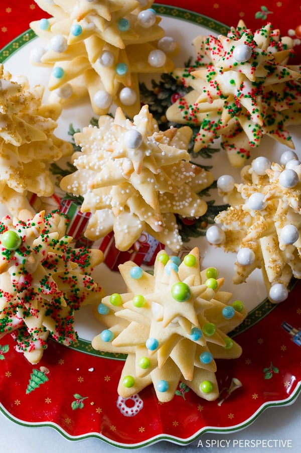 Fun to Make 3D Christmas Tree Cookies on ASpicyPerspective that make fantastic edible gifts!
