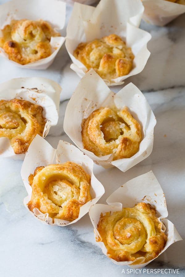 "Love these 3-Ingredient ""Cheater"" Kouign Amann Recipe on ASpicyPerspective.com - Great for the holidays!"