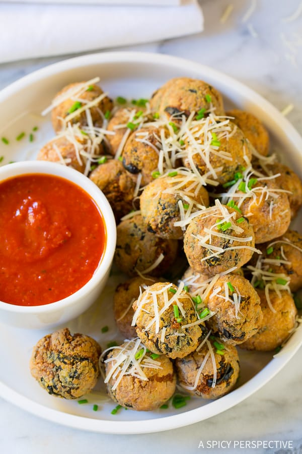 Best Way to Use Up Holiday Leftovers: Cheater Potato Arancini Recipe on ASpicyPerspective.com