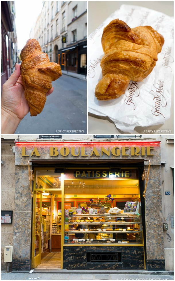 Croissants in Paris on ASpicyPerspective.com #travel