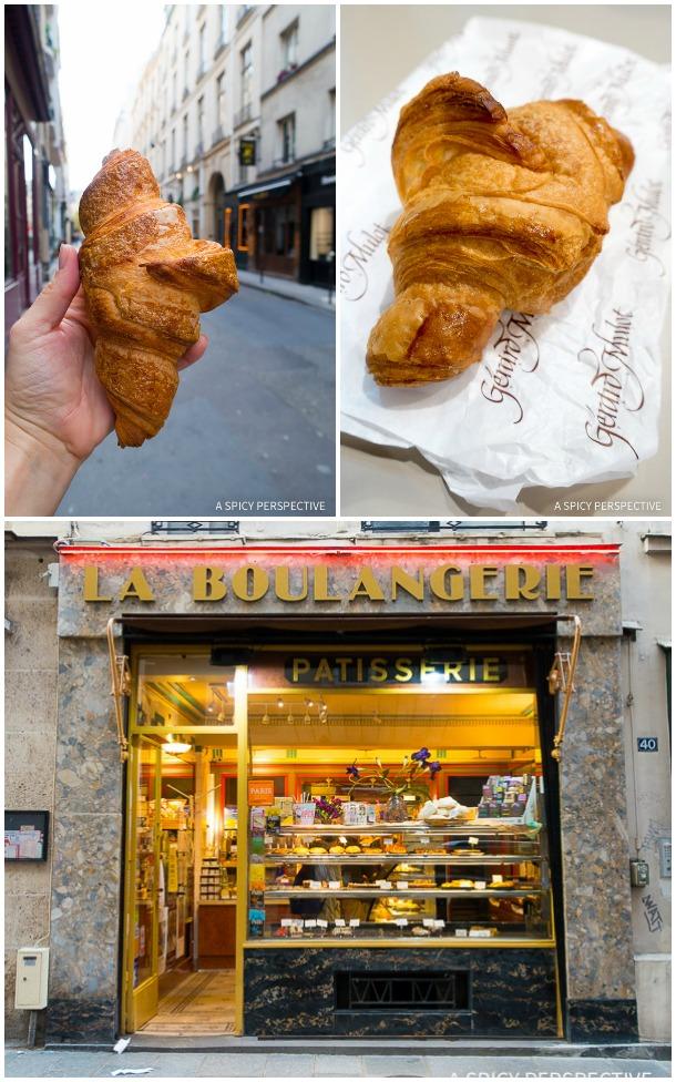 Croissants in Paris on ASpicyPerspective.com #travel