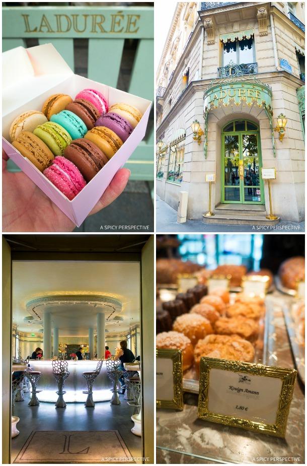 Laduree Restaurants in Paris on ASpicyPerspective.com #travel