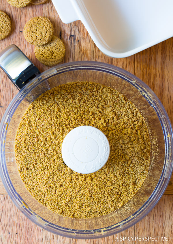 Making Layered Pumpkin Cheesecake Bars on ASpicyPerspective.com