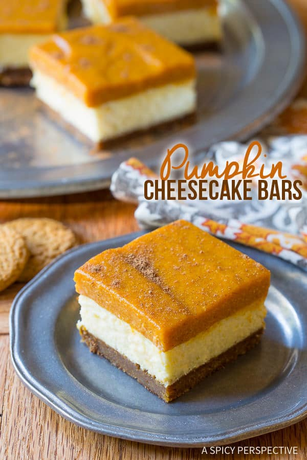 Reduced Sugar Layered Pumpkin Cheesecake For Thanksgiving Recipes ...