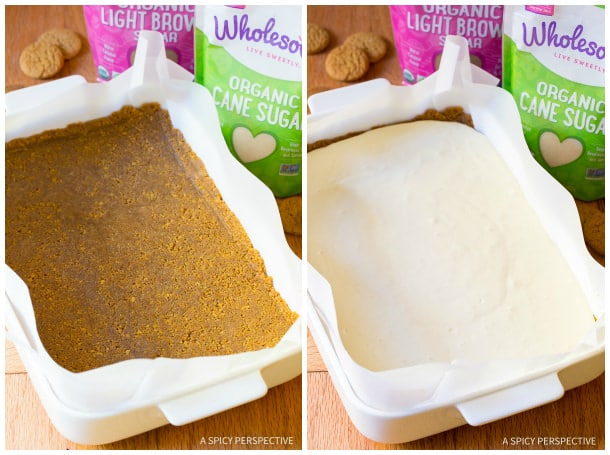 How to Make: Layered Pumpkin Cheesecake Bars on ASpicyPerspective.com