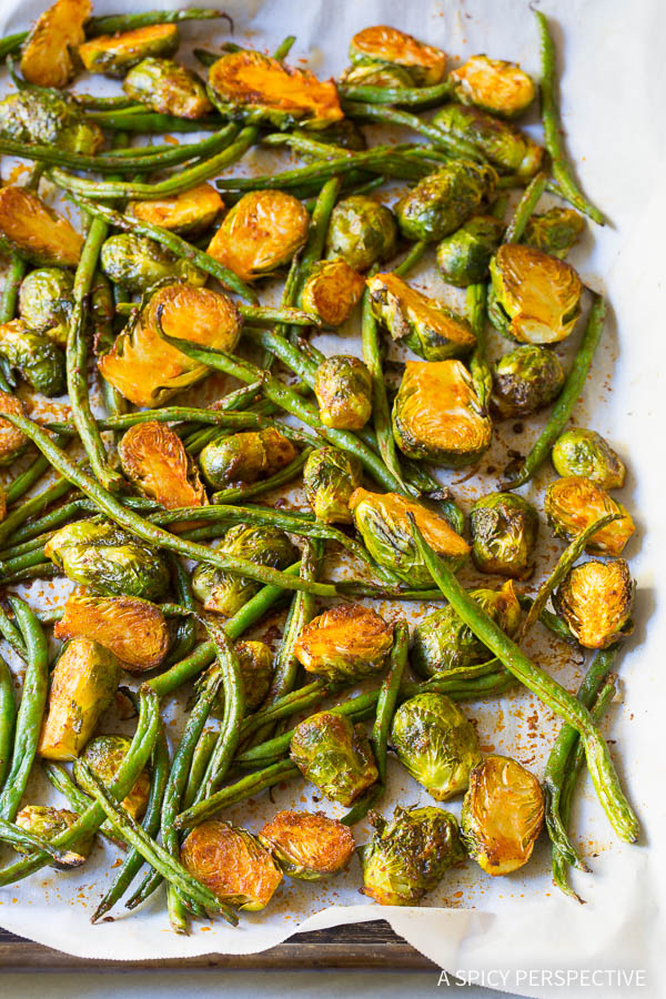 Zesty 6-Ingredient Southwest Brussels and Beans on ASpicyPerspective.com