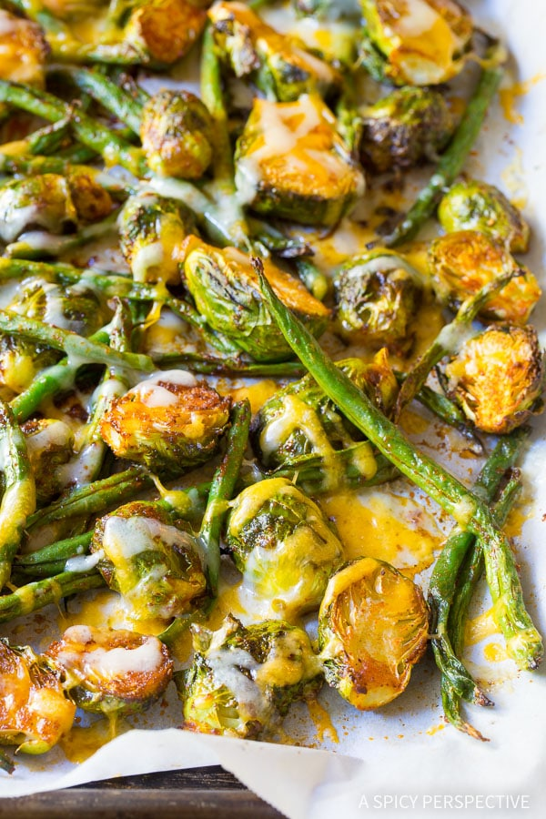 Zesty Roasted Southwest Brussels and Beans on ASpicyPerspective.com
