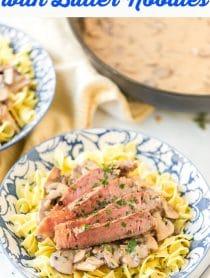 Amazing Easy Beef Stroganoff Recipe with Butter Noodles Recipe #ASpicyPerspective #beef #stroganoff