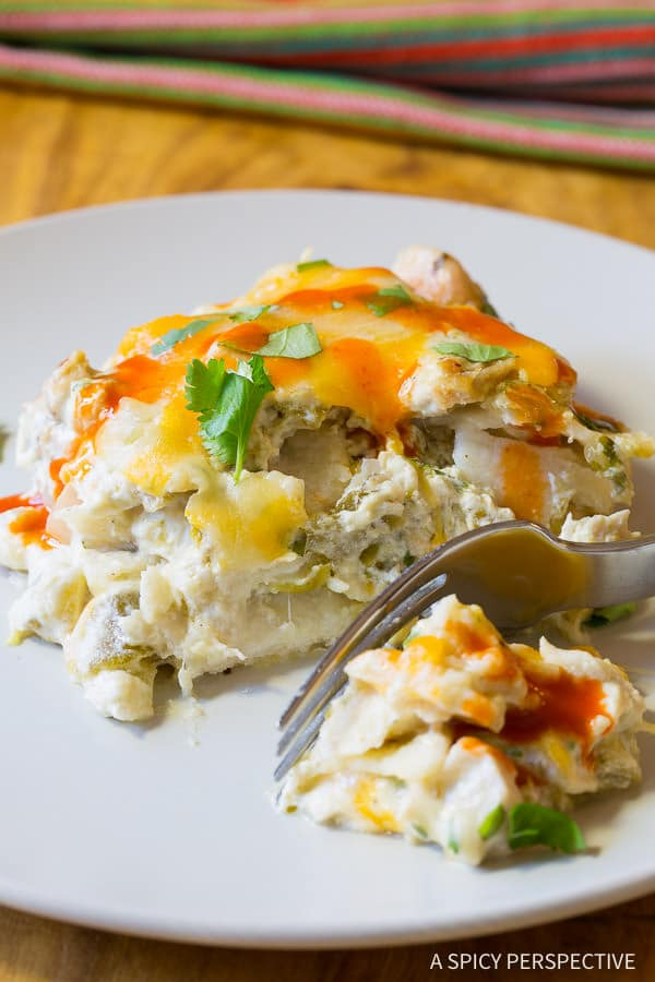 Best Cheesy King Ranch Chicken Casserole Recipe | ASpicyPerspective.com